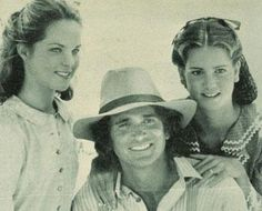 Missy, Michael and Leslie (Michaels daughter, rt) -Little House on the Prairie Melissa Sue Anderson, Ingalls Family, Michael Landon, Laura Ingalls Wilder, Fact Families, Old Tv, Favorite Tv Shows, Movies And Tv Shows, Movie Stars