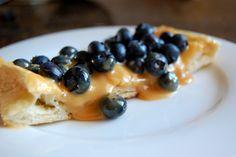 Dulce de Leche and Blueberry Dessert Pizza. Can you taste it??