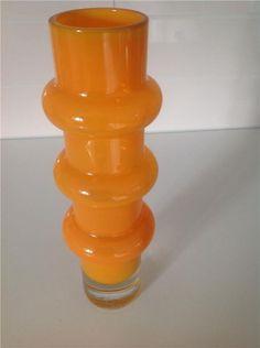 Annons på Tradera: Åseda glas vas i orange