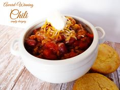 Thanks so much to Cans Get You Cooking for sponsoring this blog post in conjunction with Mom It Forward Blogger Network.  All opinions and this recipe are 100% mine. In our house Fall = Soup time!  And one of my favorite soups is this amazing award-winning chili recipe! This recipe was taken from my mom,... Read More »