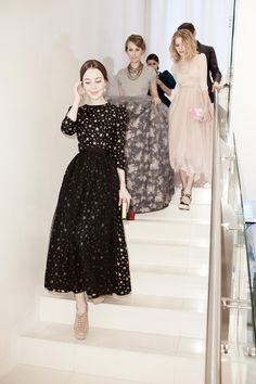 ulyana sergeenko Loving all these tea-length dresses coming out this season - so beautiful!