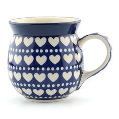 Bunzlau Castle - Rimmed Mug - Blue Valentine - Large