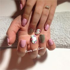 Spring Nails - Acrylics - Nail art - Baby pink nails - roses  https://www.facebook.com/pages/Beauty-with-Sadie/316265131859863