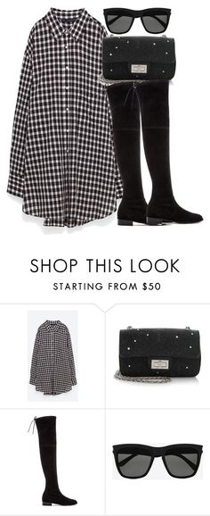 """""""Untitled #2584"""" by theeuropeancloset ❤ liked on Polyvore featuring Chanel, Stuart Weitzman and Yves Saint Laurent"""