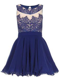Dorothy Perkins navy blue lace dress