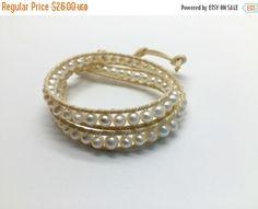 Christmas sales Freshwater Pearl Bracelet Hand by Pitakjewellery