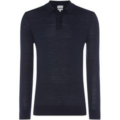 Linea Thames Merino Long Sleeve Polo ($46) ❤ liked on Polyvore featuring men's fashion, men's clothing, men's shirts, men's polos, men knitwear, mens longsleeve shirts, mens polo shirts, mens long sleeve polo shirts, mens merino wool polo shirts and mens knitwear