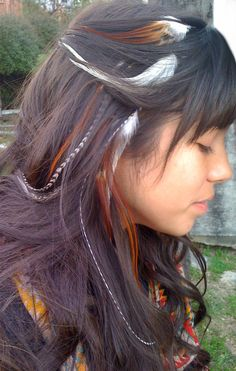Beautiful feather hair extensions!