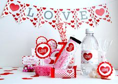 Party - Sweet Love Valentine Full Printable Collection