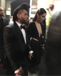 "Abel Tesfaye ""The Weeknd"" and Bella Hadid at the 2016 Grammy Awards"