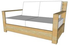 Plans for the Bristol Outdoor Loveseat by Old Paint Design. Based upon an outrageously priced version at Restoration Hardware.