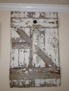 Old barn door I hung in my family room
