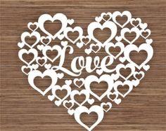Flower heart design 2 PDF SVG Commercial Use Instant