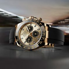 Spirit of the Rolex Daytona About the only gold watch I would wear. Magnificent.