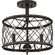 "Quoizel Dury 14 1/2"" Wide Palladian Bronze Ceiling Light"