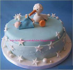 Baby Shower Cake - Stork Baby Shower Cake - Stork by cakespace - Beth (Chantilly Cake Designs) Baby Shower Cakes Neutral, Baby Shower Cakes For Boys, Fun Baby Shower Games, Baby Boy Shower, Birth Cakes, Baby Shower Appetizers, Rodjendanske Torte, Bolo Floral, Stork Baby Showers