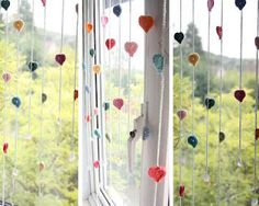 crochet-looks like hearts or hot air balloons, would be cute in a baby's room