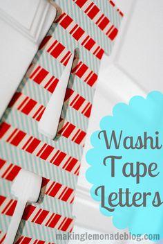Washi Tape Wooden Letter (Kids Craft Idea) | Making Lemonade