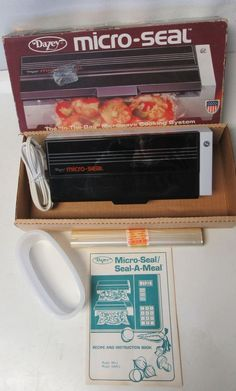 "Dazey Micro Seal ""The In-The-Bag Microwave Cooking System"" Model  MS1 1989 #Dazey"