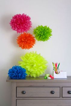 Make these in birthday party colors :))