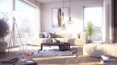 interior 3D rendering, living-room