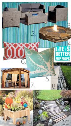 Outdoor Spring Space Mood Board | Atkinson Drive