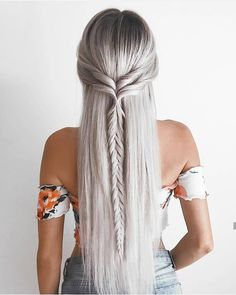 Yes or no? #braid #hairstyle #haircolor #hairstylist #greyhair #style #stylish #instafashion #instagood #instahair #instabraid #likeforlikeback #like4like #r4r #glamour #straighthair #longhair #discoverunder10k #discoverunder100k #discoverunder1k #summer #silver #beautiful #beauty #perfecthair #perfectshade