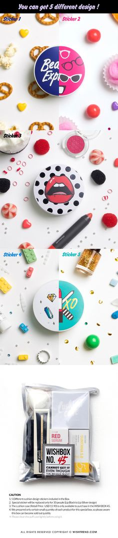 We introduce the WISH BOX No.45 D.I.Y. BB Cushion Box. This kit will be great for making your own BB cushion you've ever gotten. Make custom-BB cushion by yourself right now !