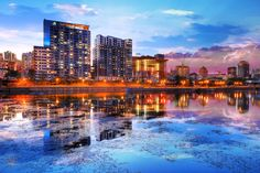 2020 Downtown Montreal City Water Reflection at Sunset Stock Image Royalty Free Pictures, Royalty Free Stock Photos, Stock Imagery, Pixel Image, Sunset Images, Image Categories, Water Reflections, Image Photography, Stock Pictures