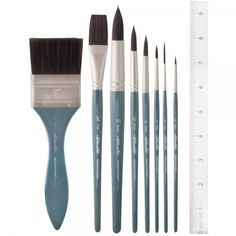 WatercolorsAcrylicsOilsAnimal-Friendly, Synthetic Hair Brushes With Amazing Color Capacity!Creative Mark has partnered with a leading synthetic hair manufacturer to craft an animal-friendly brush with all the benefits of natural hair, and none of the drawbacks!Key Features:Innovative synthetic hair blendShort blue-grey wooden handlesNickel-plated brass ferrulesPopular shapes & sizesPerfect For:Watercolors, gouache, acrylicsSuperb brush responseAnimal-friendly artistsHigh color load