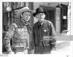 Roy Rogers stands with sheriff in a scene from the film 'Sunset In... News Photo - Getty Images Modern Country Music, Country Music Videos, The Fall Guy, Randy Travis, Republic Pictures, Dale Evans, The Muppet Show, Roy Rogers, My Generation