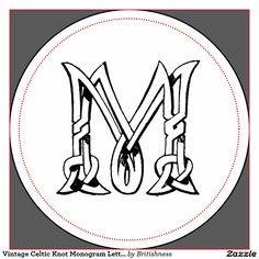 celtic m monogram ceramic tile
