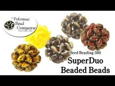 Video: How to Make  Beaded Beads with SuperDuos.  #Seed #Bead #Tutorials