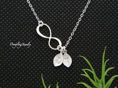 Personalized Infinity Necklace Initial by DanglingJewelry on Etsy, $37.00