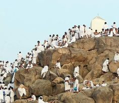 The Pilgrims seeking mercy on the day of Arafah . Oh that they would fix their hopes on Jesus instead! Holy Land, Saudi Arabia, Ramadan, Mount Rushmore, The Good Place, Pilgrims, Mountains, World, Places