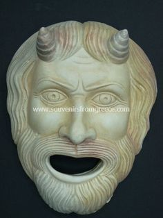 Pan plaster greek mask Greek statues Greek masks