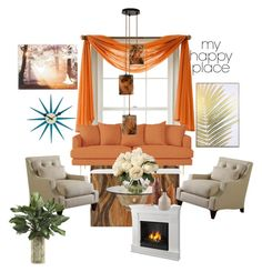 """My happy place"" by jfkayla on Polyvore featuring interior, interiors, interior design, home, home decor, interior decorating, Joybird, Storm Furniture, Graham & Brown and Wynwood"