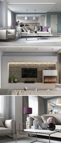 Зал-кухня - Галерея 3ddd.ru Modern Bedroom Design, Interior Design Living Room, Living Room Designs, Modern Design, Living Room Tv, Living Room Furniture, Tv Unit Furniture, Modern Tv Wall Units, Cosy Interior