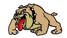 Get ready for school spirit with this bulldog mascot embroidery design!