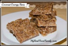 Coconut Energy Bars - My Real Food Family