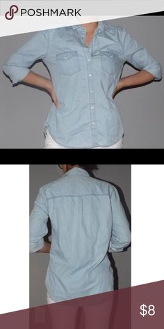 Button Down Shirt Never worn w/o tags. Light cotton that looks like light denim. Aeropostale Tops Button Down Shirts