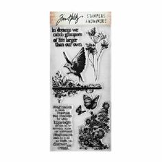 Tim Holtz Stampers Anonymous Clear Stamps - Flights of Fancy #40