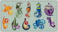 Fanciful Scrolly Birds and Glittery Scrolly Birds Special Pricing Get Both Sets and SAVE!