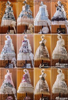 Lolita dresses a Chinese Lolita bought from August to December in 2016