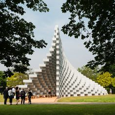 In this exclusive video, Bjarke Ingels explains how he used stacks of fibreglass boxes to create the undulating form of the Serpentine Gallery Pavilion 2016