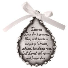 Shop for Tear Shaped Pewter Finish Memorial Ornament. Get free delivery On EVERYTHING* Overstock - Your Online Home Decor Shop! Get in rewards with Club O! Memorial Ornaments, Christmas Ornaments, Christmas Crafts, Shopping Catalogues, After Life, Beaded Ornaments, Quilted Ornaments, Home Decor Shops, Custom Engraving