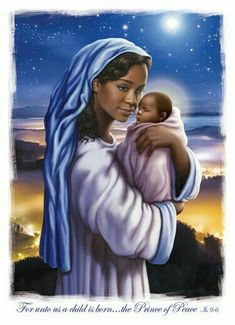 Madonna and Child - Afrocentric Christmas Cards by: Carole Joy Creations Art Black Love, Black Girl Art, African American Artwork, African American Women, African Americans, Afrique Art, Rock Poster, Black Art Pictures, Black Jesus Pictures