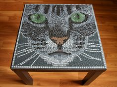 Mosaic Cat Table