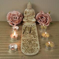 Large, 5 Slot incense holder Incense Holder, Soapstone, Slot, Buddha, Bottle, Decor, Decoration, Flask, Decorating