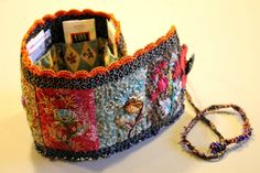 EMBROIDERED TRAVEL SEWING KIT -
